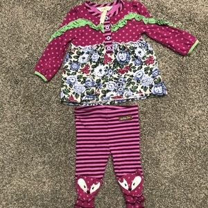Matilda Jane shirt and pants 6-12 months